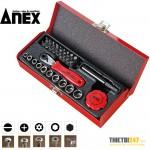 Bộ vặn ốc vít đa năng 31 cái No.525-28B Anex Nhật bản