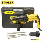 Bộ máy khoan búa Stanley SHR264KA SDS Plus 26mm 800W 3 chức năng