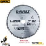 Lưỡi cắt nhôm Dewalt DWA03220 TCT 255mm 100 răng