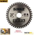 Lưỡi cưa gỗ Dewalt DW03410 TCT 100mm 40 răng