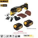 Máy cắt rung đa năng pin Dewalt DCS355D2 300W 22000vp 18V 2Ah BL Motor