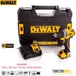Máy khoan vặn vít không chổi than pin Dewalt DCD701D1 10mm 12V 2Ah