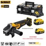Máy mài góc pin Dewalt DCG413BD2 100mm 850W 9000rpm 18V 2Ah BL Motor
