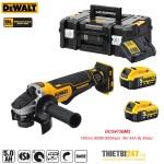 Máy mài góc pin Dewalt DCG413BP2 100mm 850W 9000rpm 18V 5Ah BL Motor