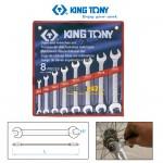 Bộ cờ lê 2 đầu miệng Kingtony 1108MR 6~22mm 8 cái