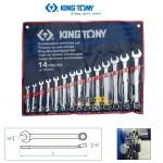 """Bộ cờ lê vòng miệng hệ inch Kingtony 1214SR 5/16""""~1-1/4"""" 14 cái"""