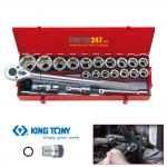 "Bộ khẩu kingtony 3/4"" 23 cái 21~50mm 6323MR"