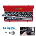 """Bộ tuýp 3/4"""" Kingtony 12 cạnh 21~50mm 23 cái 6023MR"""