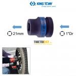 """Đầu tuýp Kingtony 851421M 1""""DR vuông 21mm chuyên mở bánh xe"""