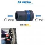"""Đầu tuýp Kingtony 853421M 1""""DR vuông 21mm chuyên mở bánh xe"""