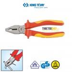 Kìm điện cách điện VDE 1000V Kingtony 6116-07A 185mm