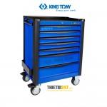 Tủ đựng dụng cụ đồ nghề 7 ngăn xanh đen Kingtony 87934-7BF-B
