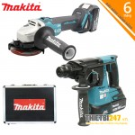 Bộ sản phẩm máy khoan, máy mài DLX2161X Makita