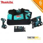 Bộ sản phẩm máy cưa đĩa, vặn vít DLX2085M Makita