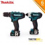 Bộ sản phẩm máy khoan, vặn vít CLX201S Makita