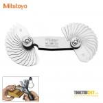 Bộ dưỡng đo cung tròn Mitutoyo 186-105 1~7mm 34 lá
