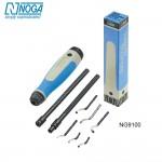 Bộ dao xử lý bavia cho thợ chế tạo máy 9 món NG9100 Noga