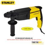 Máy khoan búa Stanley STHR202K SDS Plus 20mm 620W 2 chức năng