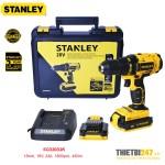 Máy khoan vặn vít pin Stanley SCD20D2K 13mm 18V 2Ah 1500rpm 45Nm
