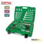 Bộ dụng cụ hệ mét và inch Toptul GCAI130B 130 cái