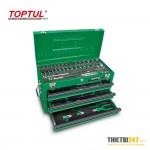 Tủ đựng dụng cụ 3 ngăn có dụng cụ 82 cái GCAZ0016 Toptul