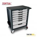 Tủ đựng dụng cụ 7 ngăn di động không có dụng cụ TCAL0703 Toptul