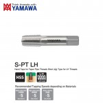 Mũi taro xoắn ren trái phần ren ngắn cho ren ống côn S-PT LH Yamawa